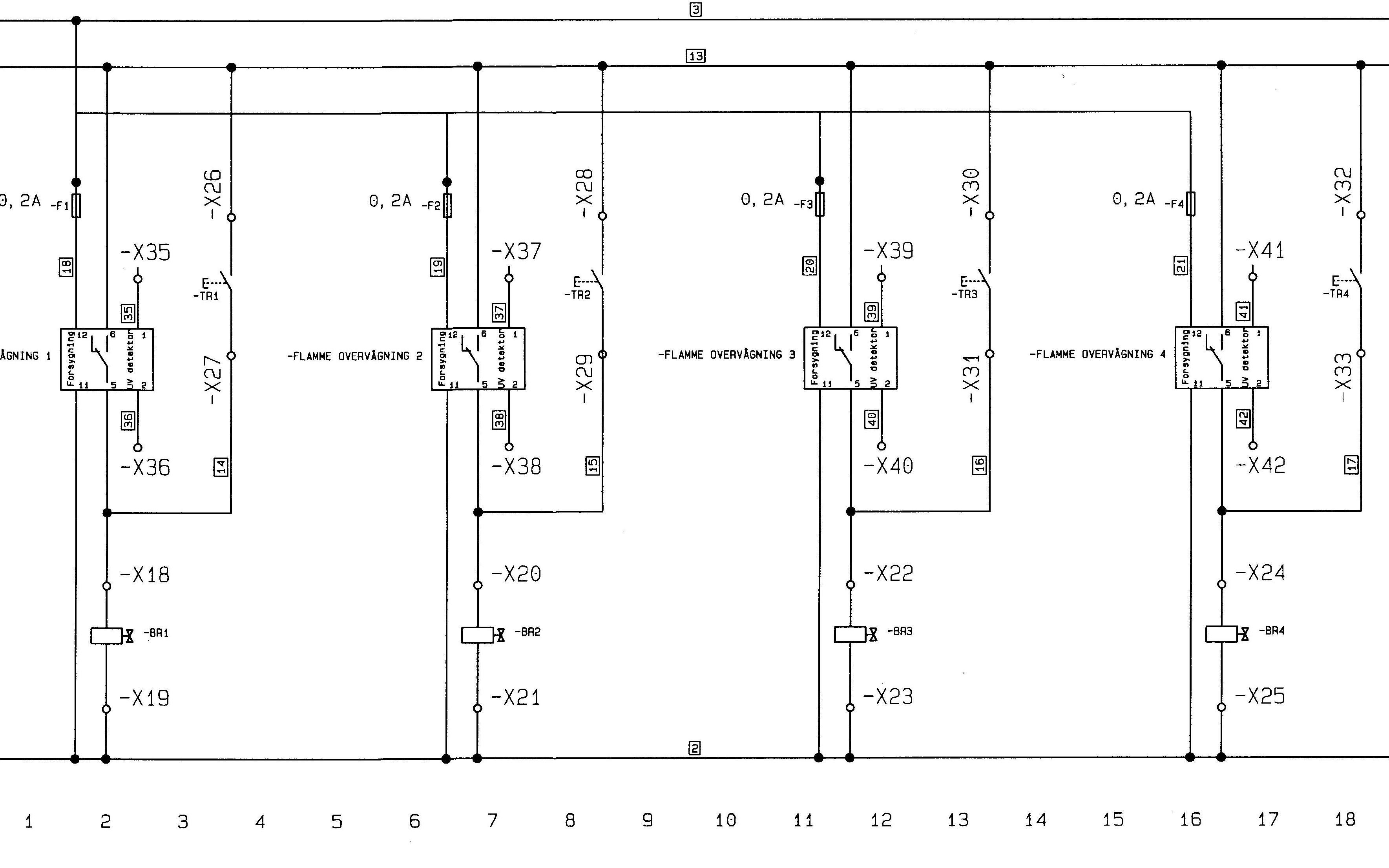 Wiring diagram gas